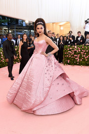 Deepika Padukone was the belle of the ball in this sculptural pink ballgown by Zac Posen at the 2019 Met Gala.