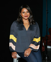 Mindy Kaling's stackable diamond rings added a dose of elegance to her casual look at the 2019 Montclair Film Festival.