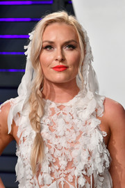 Lindsey Vonn went for boho romance with this loose side braid at the 2019 Vanity Fair Oscar party.