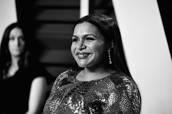 More Pics of Mindy Kaling Red Nail Polish (1 of 9) - Nails Lookbook - StyleBistro [image,white,black,face,photograph,black-and-white,facial expression,people,monochrome,monochrome photography,head,radhika jones - arrivals,radhika jones,mindy kaling,california,beverly hills,wallis annenberg center for the performing arts,oscar party,vanity fair]
