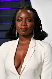 Danai Gurira wore her hair in cornrows at the 2019 Vanity Fair Oscar party.