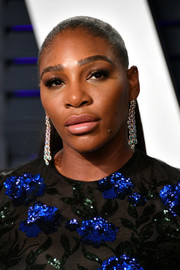 Serena Williams attended the 2019 Vanity Fair Oscar party wearing her hair in a tight ponytail.