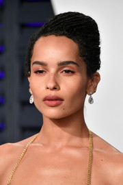 Zoe Kravitz styled her signature locs into a beehive for the 2019 Vanity Fair Oscar party.