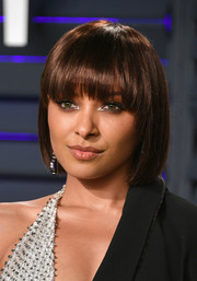 Kat Graham looked youthful with her bob and eye-grazing bangs at the 2019 Vanity Fair Oscar party.