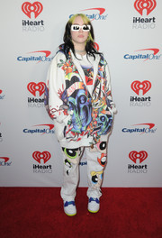 For her footwear, Billie Eilish chose a pair of Nike sneakers.