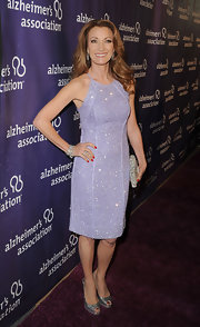 Jane Seymour glittered in lilac on the Alzheimer's Association 'A Night at Sardi's' red carpet.