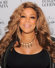 Wendy Williams wore a gold necklace with her black leather ensemble for the Christian Louboutin celebration.
