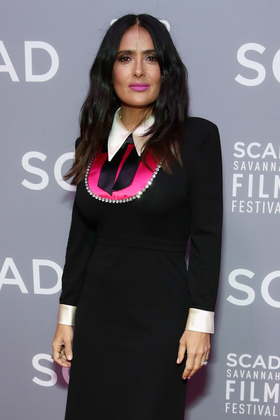 More Pics of Salma Hayek Cocktail Dress (5 of 6) - Salma Hayek Lookbook - StyleBistro