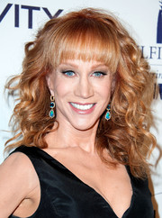Kathy Griffin wore her hair in a mop of curls with curved bangs during the Fulfillment Fund Stars Benefit Gala.