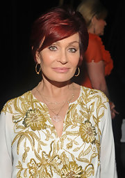 Sharon Osbourne attended the Race to Erase MS Gala wearing two necklaces including one with a heart pendant.
