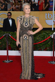 Malin Akerman looked grand in her fully beaded Naeem Khan gown at the SAG Awards.