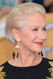Helen Mirren polished off her look with a slicked-back bob when she attended the SAG Awards.