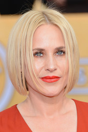 Patricia Arquette framed her face with a center-parted bob for the 2014 SAG Awards.