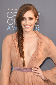Carly Chaikin looked romantic wearing this loose side braid at the Critics' Choice Awards.