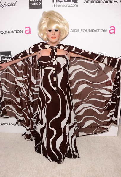 Lady Bunny at Elton John's 2013 Oscars Party