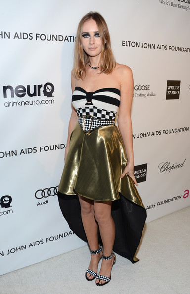 Olga Sorokina at Elton John's 2013 Oscars Party