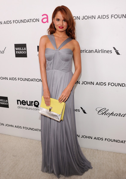 Debby Ryan Wore Lisa Ho at Elton John's 2013 Oscars Party