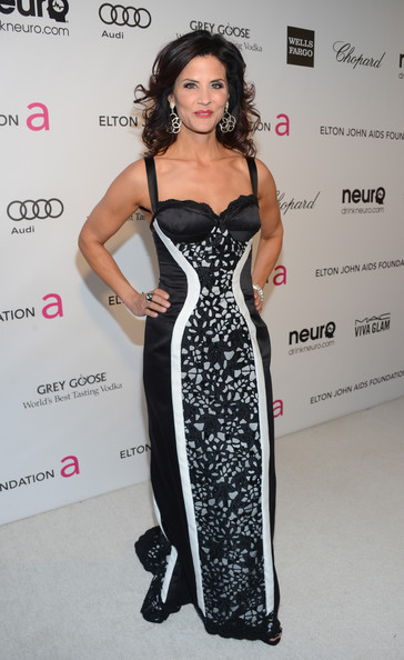 Lu Parker at Elton John's 2013 Oscars Party