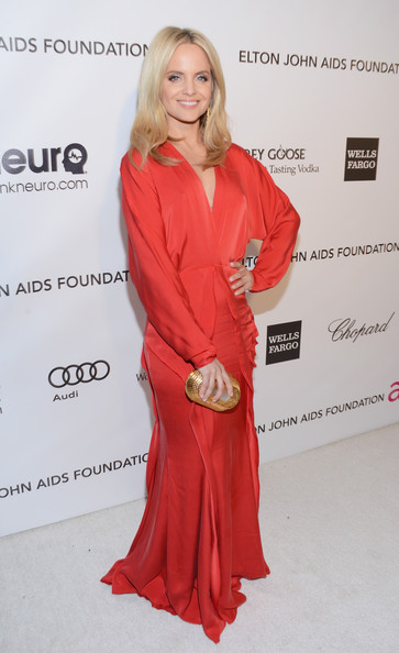 Mena Suvari Wore Lisa Ho at Elton John's 2013 Oscars Party