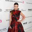 Kourtney Kardashian Wore Brian Rennie for Basler at Elton John's 2013 Oscars Party
