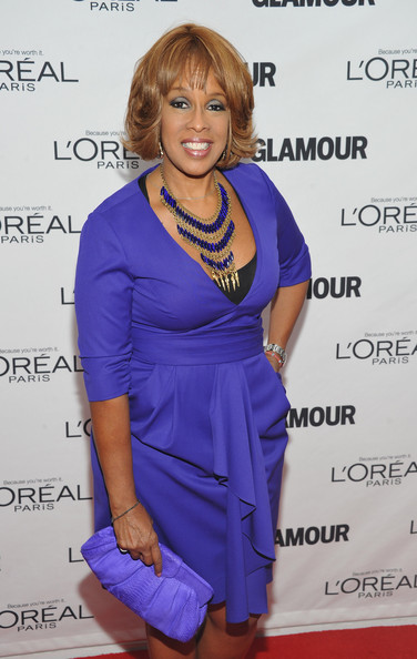 More Pics of Gayle King Bob (2 of 3) - Gayle King Lookbook - StyleBistro [cobalt blue,clothing,electric blue,hairstyle,cocktail dress,dress,shoulder,long hair,fashion design,formal wear,arrivals,editor-at-large,glamour women of the year awards,gayle king,new york city,carnegie hall,the oprah magazine,annual glamour women of the year awards]