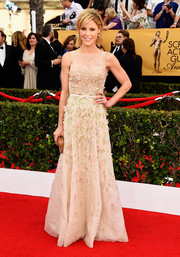 Julie Bowen went the ultra-sweet route with this beaded nude Georges Hobeika Couture gown at the SAG Awards.