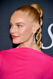 Kate Bosworth wore her hair in a tight braid at the Warner Bros. and InStyle Golden Globes after-party.