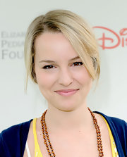 Bridgit Mendler went for a soft, romantic look with a loose updo.