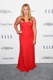 Amy Schumer was red-hot in a curve-flaunting Calvin Klein gown during the Elle Women in Hollywood Awards.