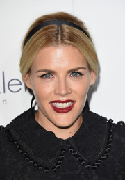 Busy Philipps looked demure with her center-parted updo, complete with a black ribbon, at the Elle Women in Hollywood Awards.