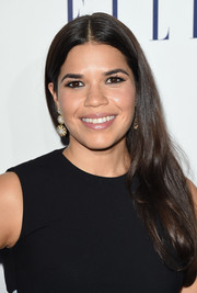 America Ferrera opted for a simple center-parted side sweep when she attended the Elle Women in Hollywood Awards.