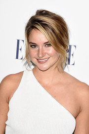 Shailene Woodley looked gorgeous with her messy-glam updo at the Elle Women in Hollywood Awards.