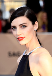 Jessica Pare sported a sleek braid at the SAG Awards.