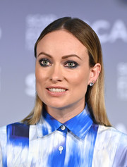 Olivia Wilde went edgy with her smoky eyes.