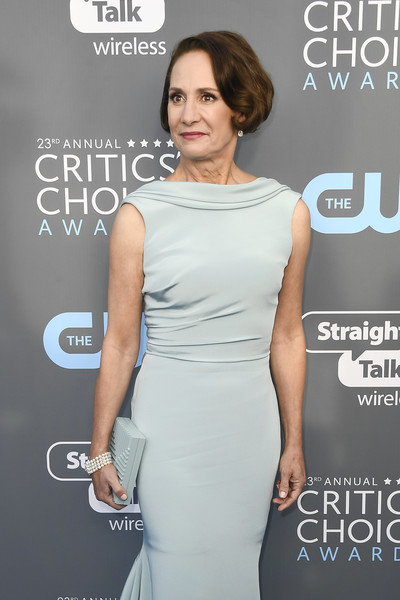 More Pics of Laurie Metcalf Bob (1 of 5) - Laurie Metcalf Lookbook - StyleBistro [clothing,dress,shoulder,premiere,cocktail dress,fashion,carpet,joint,neck,event,arrivals,laurie metcalf,santa monica,california,barker hangar,annual critics choice awards]