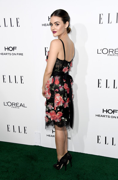 Lucy Hale in Marchesa
