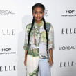 Yara Shahidi in Stella McCartney (wearing Schutz shoes)