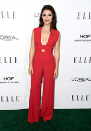 Shiri Appleby was '70s-sexy in a plunging red cutout jumpsuit by La Mania at the Elle Women in Hollywood Awards.
