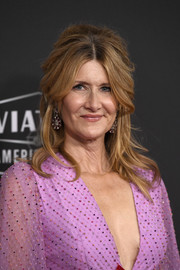 Laura Dern was boho-glam with her teased half updo at the 2019 Hollywood Film Awards.