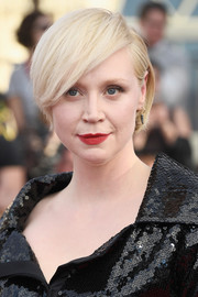 Gwendoline Christie's hairstyle at the SAG Awards was an elegant take on the emo bangs trend.