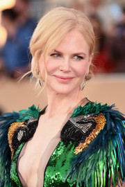 Nicole Kidman was elegantly coiffed with this loose chignon at the SAG Awards.