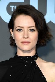 Claire Foy looked adorable with her half-tucked bob at the 2019 Critics' Choice Awards.