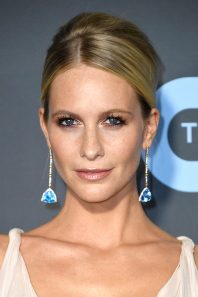 Poppy Delevingne styled her hair into an elegant beehive for the 2019 Critics' Choice Awards.