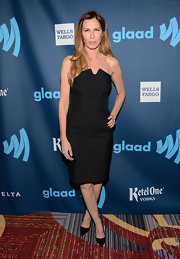 Carole Radziwell opted for a strapless LBD for her evening look at the GLAAD Media Awards.