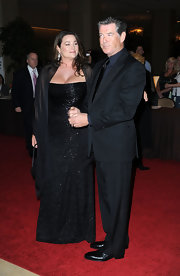 Keely Shaye Smith's beaded black column dress was a divine choice for the 24th Genesis Awards.