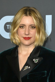 Greta Gerwig looked sweet with her face-framing bob at the 2020 Critics' Choice Awards.