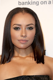 Kat Graham sported a straight, shoulder-length 'do at the Elton John AIDS Foundation Oscar-viewing party.