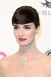 Paz Vega rocked emo bangs at the Elton John AIDS Foundation Oscar-viewing party.