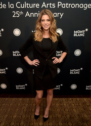 Ashley Greene opted for a basic black skirt suit when she attended the Montblanc de la Culture Arts Patronage Award.