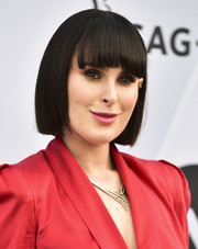 Rumer Willis sported a short straight 'do with eye-grazing bangs at the 2019 SAG Awards.